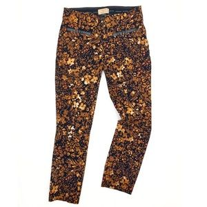 Anthropologie The Essential Slim Floral Trousers